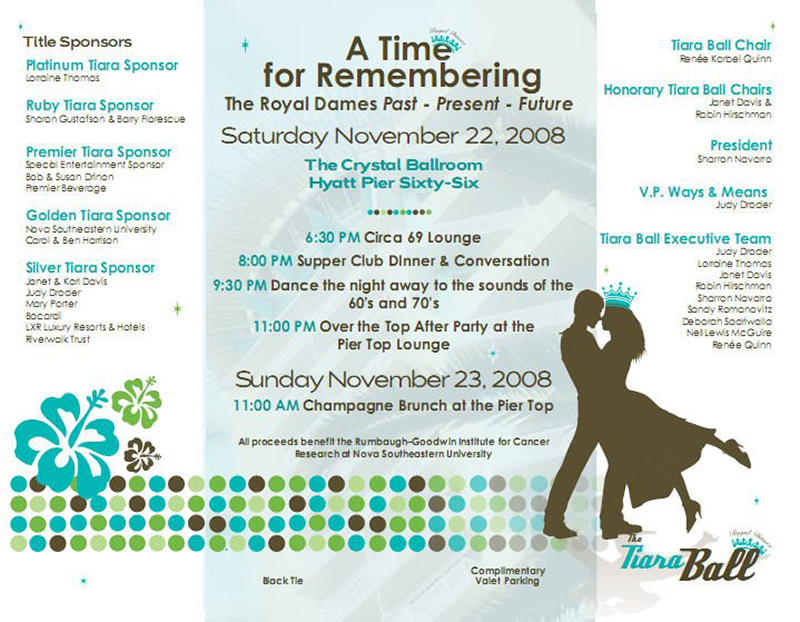 A Time for Remembering Tiara Ball Invite - inside